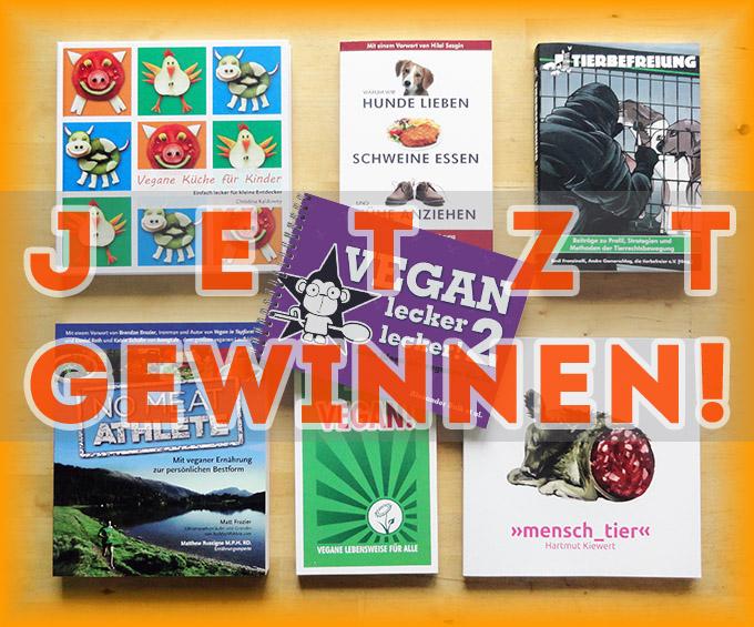 Abbildung der 7 Bücher, die ihr gewinnen könnt!