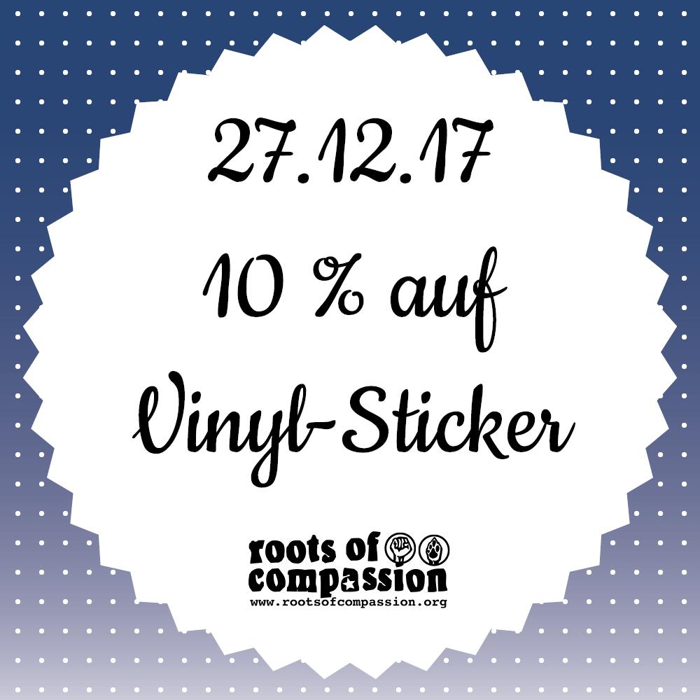 Heute: 10 % Rabatt auf Sticker