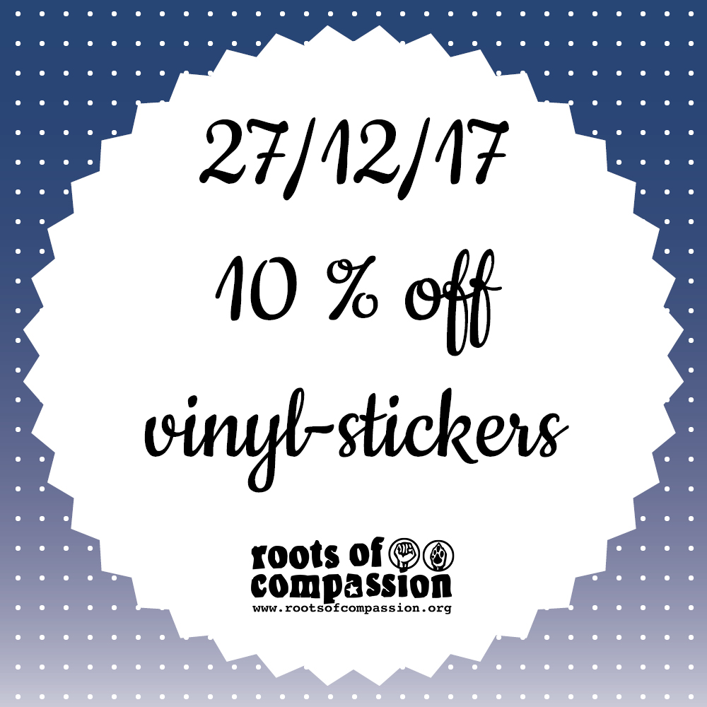 Today: 10 % off stickers