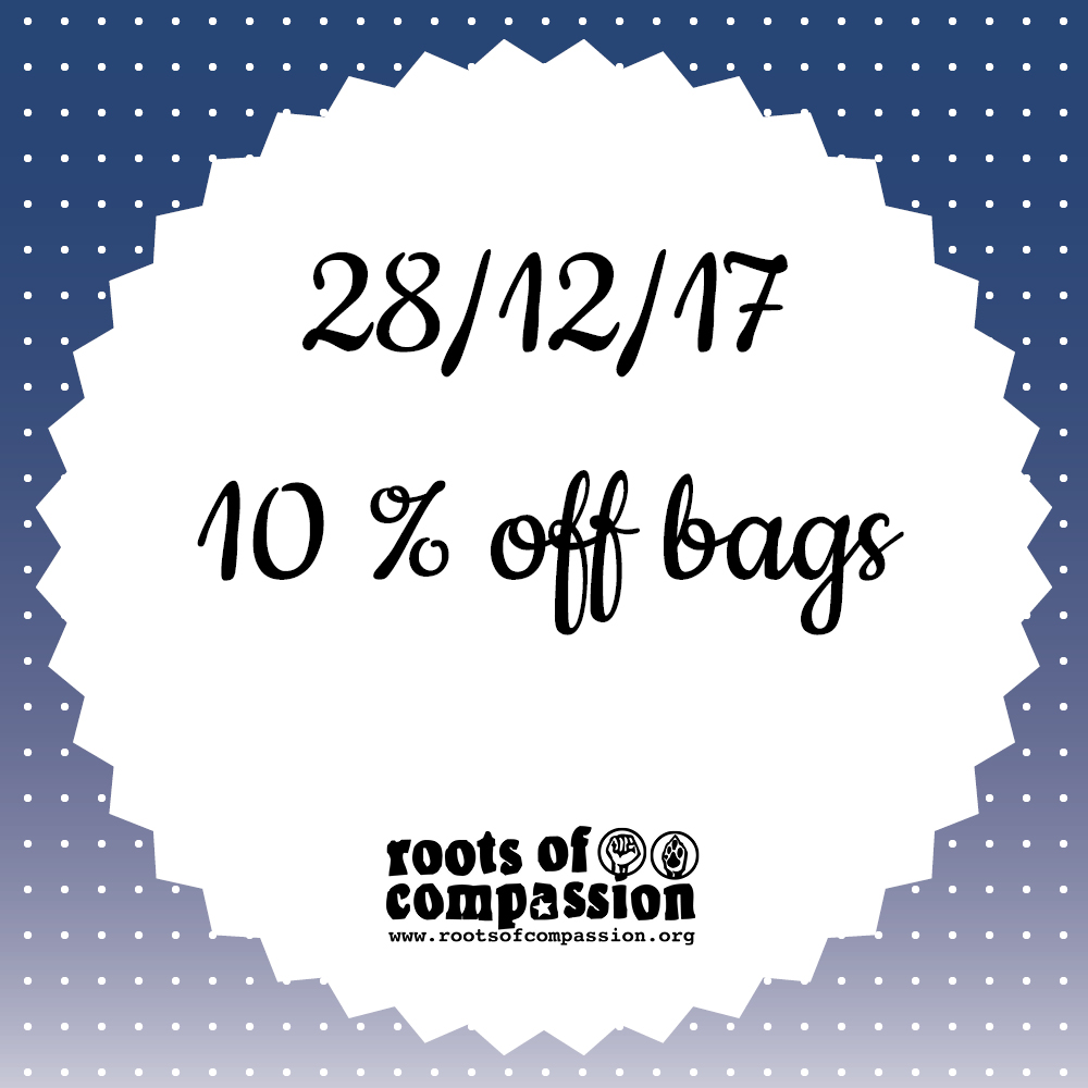 Today: 10 % off tote bags and gym bags