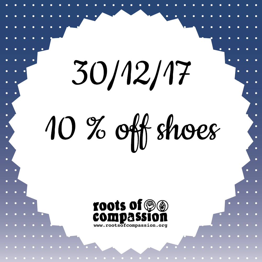 Today: 10 % off shoes